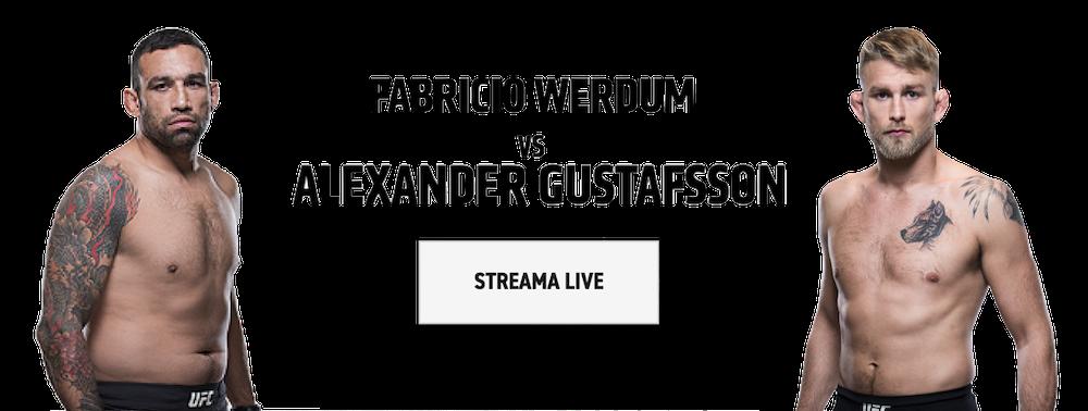 Streama Gustafsson vs Werdum gratis live streaming? UFC Fight Night live inatt!