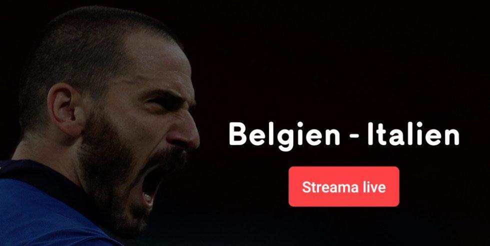 Streama Belgien Italien live online - allt om Belgien vs Italien live stream free!